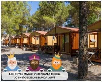 Oferta en el Camping Altomira: ¡Los Reyes Magos nos visitan! Reserva tu bungalow del 5 al 7 de enero.