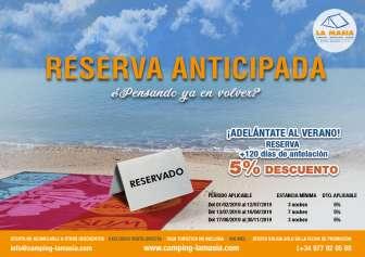 Angebot im Camping La Masía Tarragona - Camping in Tarragona