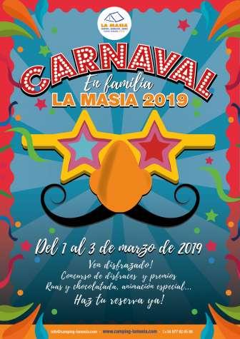 Oferta en el Camping La Masía Tarragona: Vive un carnaval en familia en La Masia