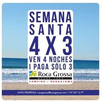Oferta en el Camping Roca Grossa: Oferta Semana Santa en Bungalow o Movil Home, DUERMA 4 NOCHES Y PAGUE SOLO 3.