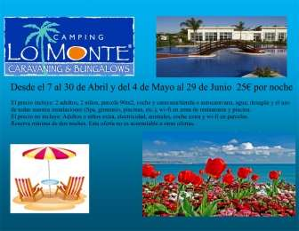 Offer in Bungalow Lo Monte - Bungalow in Alicante