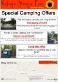 Oferta Low Season Camping Offer