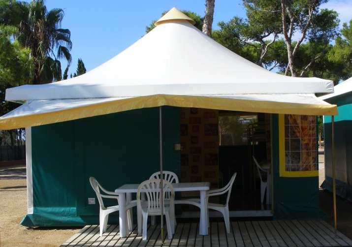 Bungalow tipo: Pagan Tiendas en el Camping Relax Sol