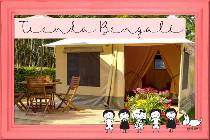 Bungalow tipo: Tienda Bengali en el Camping Boltaña