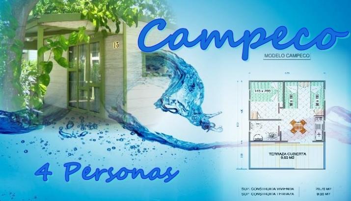 Bungalow tipo: Campeco en el Camping Azul
