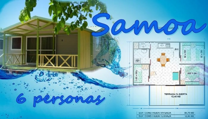 Bungalow tipo: Samoa en el Camping Azul