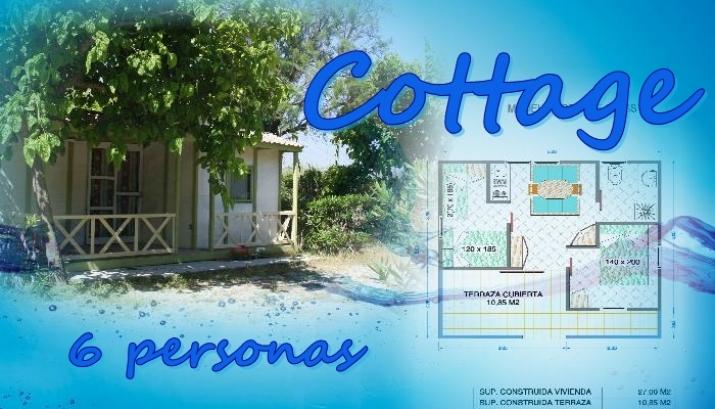 Bungalow tipo: Cottage en el Camping Azul